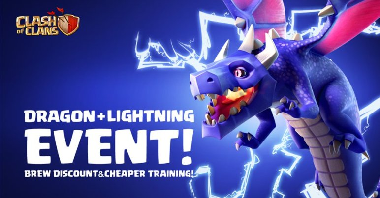 Thunderstruck Dragon Lightning Event Clash of Clans