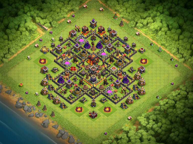 Town Hall 10 Farming Base Design Layout Clash of Clans