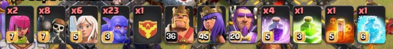 Clash of Clans Town Hall 11 Bowler Queen Walk Army Composition
