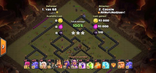 Clash of Clans Town Hall 11 Three Star