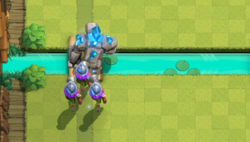 Golem Three Musketeers Beatdown Clash Royale