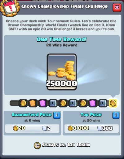 Clash Royale 20 Win Challenge Rewards