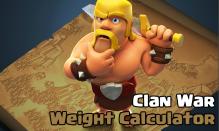 Clash of Clans Clan War Weight Calculator