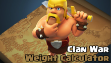 Clash of Clans Clan War Weight Calculator