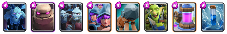 Golem Three Musketeers Deck Clash Royale