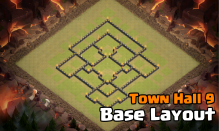 Town Hall 9 War Base Design Layout