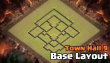 Town Hall 9 War Base Design Layout