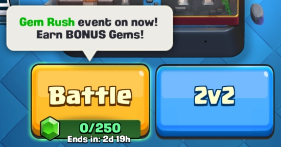 Gem Rush Event Clash Royale