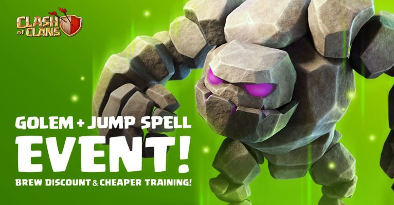 Golem Jump Spell Event Clash of Clans
