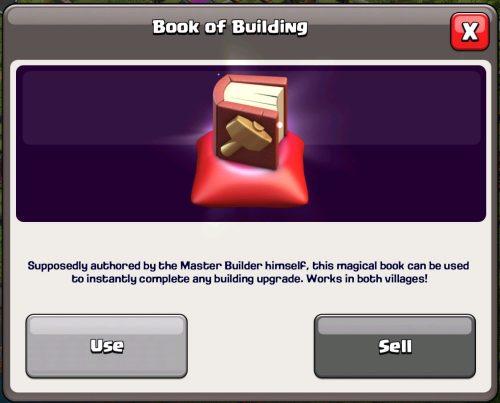 Book of Building Magic Item Clash of Clans