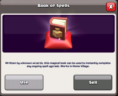 Book of Spells Magic Item Clash of Clans