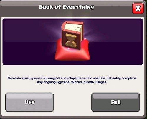 Book of Everything Magic Item Clash of Clans
