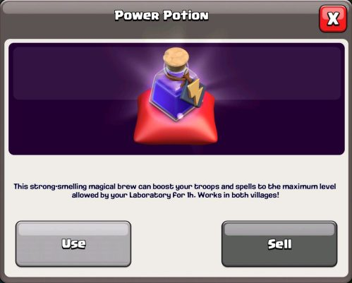 Power Potion Magic Item Clash of Clans