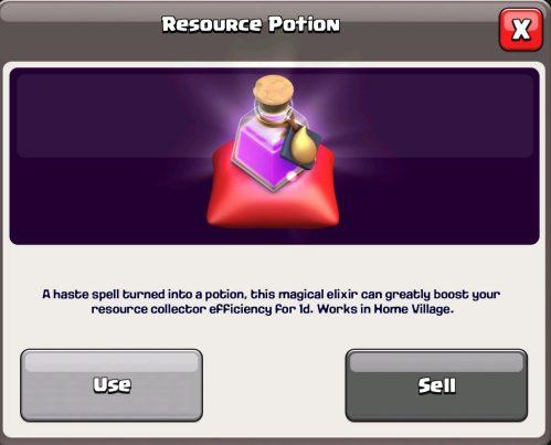 Resource Potion Magic Item Clash of Clans