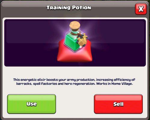 Training Potion Magic Item Clash of Clans
