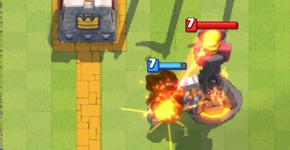 Hog Rider vs Inferno Tower Clash Royale
