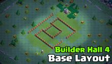 Builder Hall 4 Base Design Layout Clash of Clans