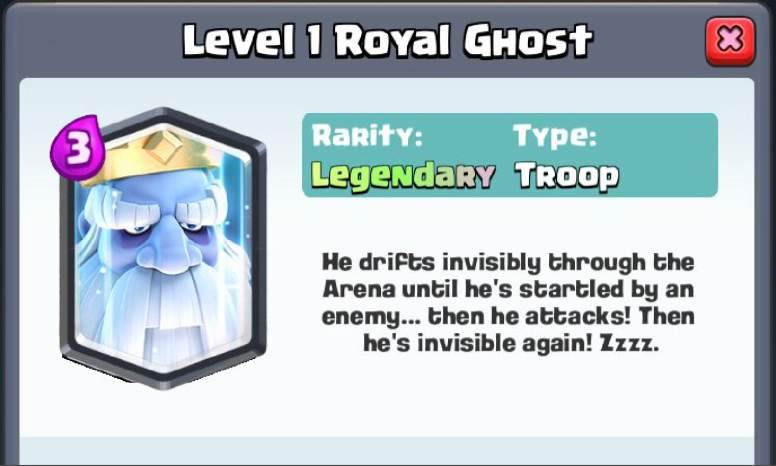 Royal Ghost New Legendary Card Clash Royale