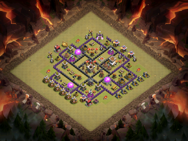 Town Hall 8 Base Design 2018 Clash of Clans