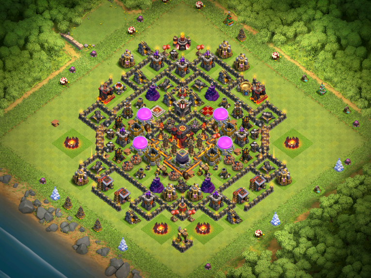 """Best Town Hall 10 Base Design Layout: """"Widespread"""" 