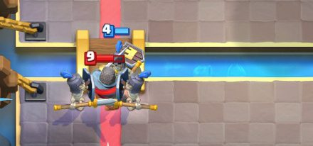 Guards vs Knight Clash Royale