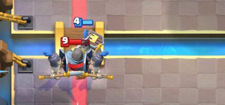 Guards vs Knight Clash Royale