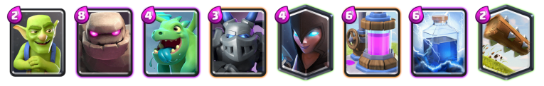 Clash Royale Golem Night Witch Deck 2018
