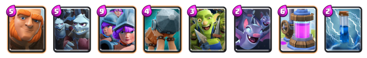 Clash Royale Giant Three Musketeers Deck 2018