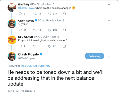 Royal Ghost Nerf Balance Changes Clash Royale