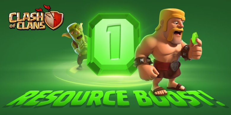 One Gem Boost Clash of Clans