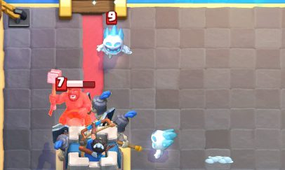 Hog Rider vs Guards Clash Royale