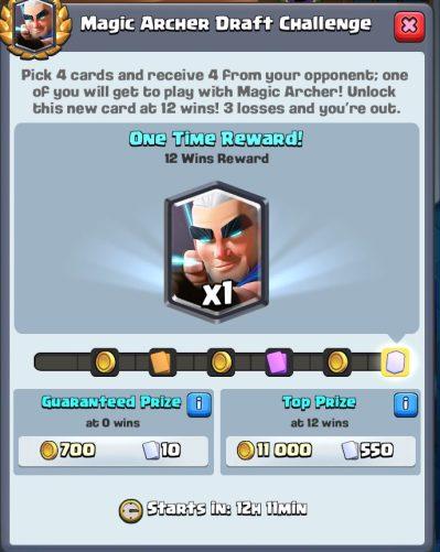 Magic Archer Draft Challenge Clash Royale