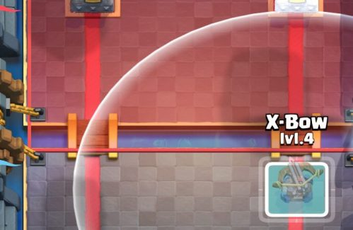 X Bow Deployment Clash Royale