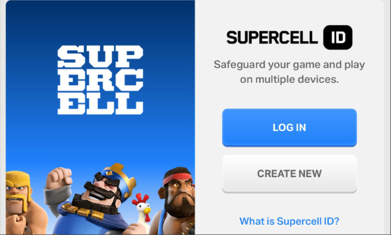 Supercell ID Clash of Clans Clash Royale