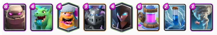Lunar New Year Challenge Clash Royale Golem Lumberjack Deck