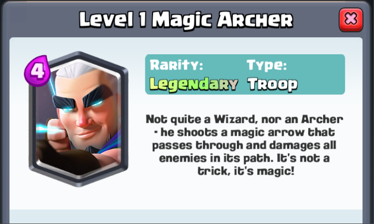 Magic Archer Gameplay Statistics Leaked Clash Royale