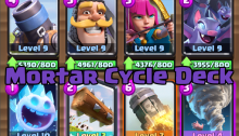 Mortar Cycle Deck Clash Royale