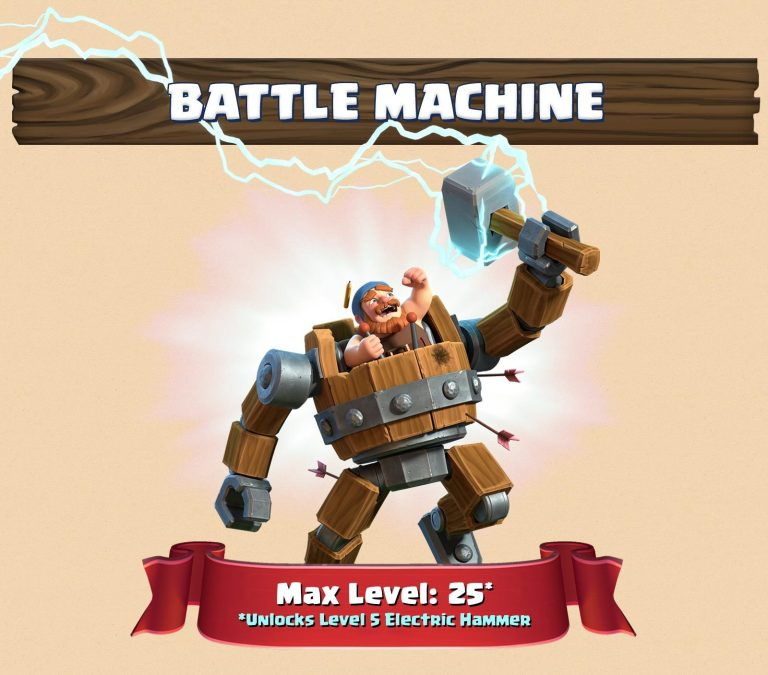 Battle Machine Level 25 March 2018 Update Clash of Clans