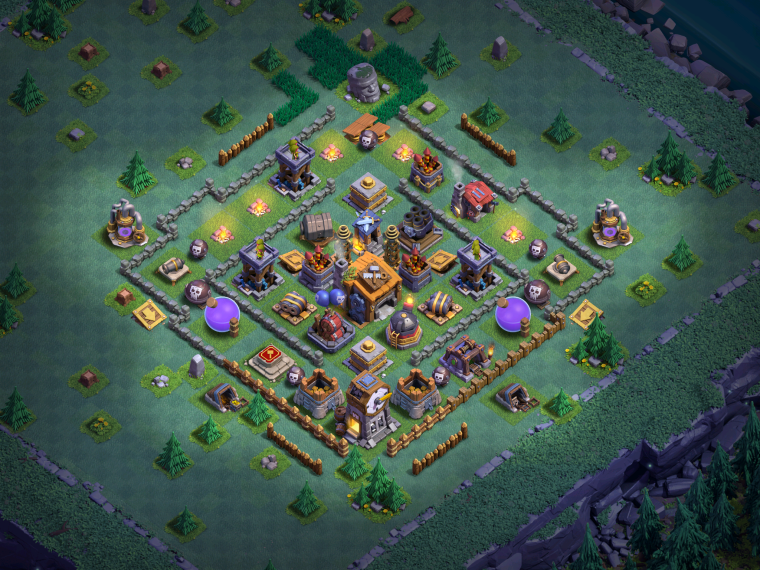 Builder Hall 7 Base Design Clash of Clans March 2018
