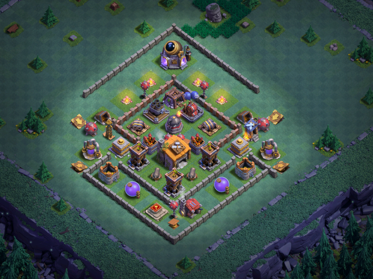 Builder Hall 6 Base Design Layout Clash of Clans March 2018