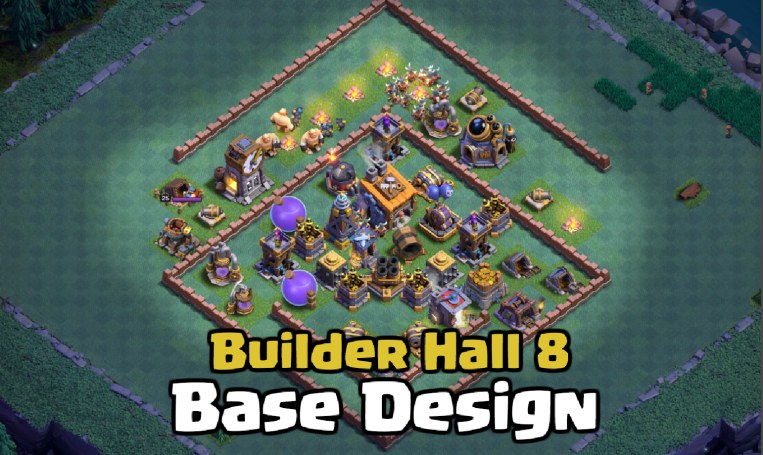 Best Builder Hall 8 Base Design Layout Clash of Clans