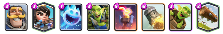 Log Bait Deck Clash Royale League Challenge