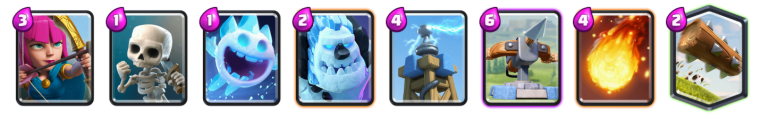 X Bow Cycle Deck Clash Royale League Challenge