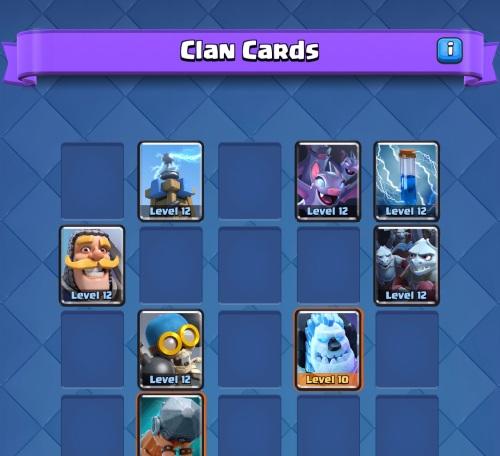 Clan Cards Clash Royale Clan Wars