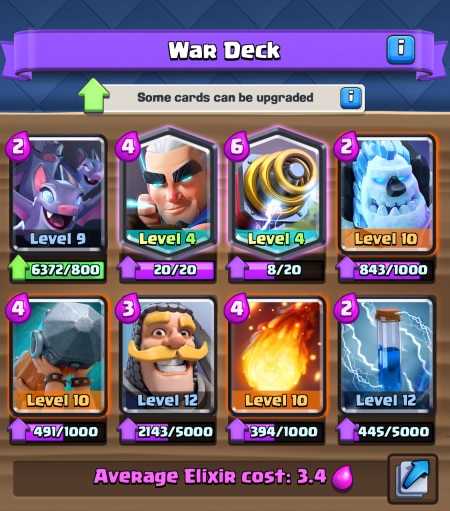 Clan Wars War Deck Clash Royale