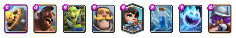 Barbarian Barrel Log Bait Deck Clash Royale
