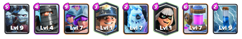 Three Musketeers Beatdown Deck Clash Royale