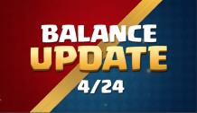 Balance Changes Update Clash Royale April Update