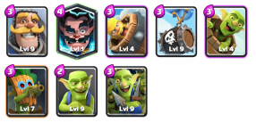 Barrels on Barrels Deck Goblin Challenge Clash Royale