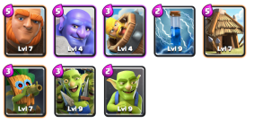 Gobdown Deck Goblin Challenge Clash Royale
